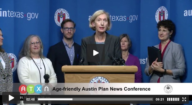 Watch the Age-friendly Austin News Conference