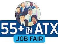 55+ in ATX job fair logo